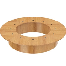 Callao Solid Teak Wood Large Round Conference Table