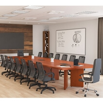 Lethbridge Solid Mahogany Wood Large Conference Table