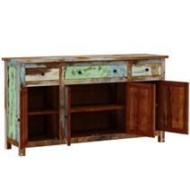 Wilmington Rustic Reclaimed Wood 3 Drawer Large Sideboard Buffet