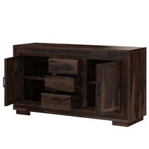 Petaluma Modern Rustic Solid Wood 3 Drawer Large Sideboard Buffet