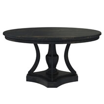 Abingdon Rustic Solid Wood Round Pedestal Dining Table