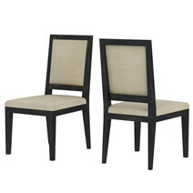 Abingdon Rustic Solid Wood Upholstered Dining Chair