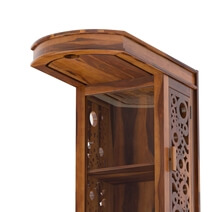 Tyndale Rustic Solid Wood Tall Bar Cabinet