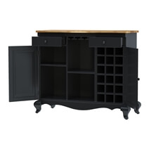 Edinburg Rustic Solid Wood Two-Tone Buffet Bar Cabinet