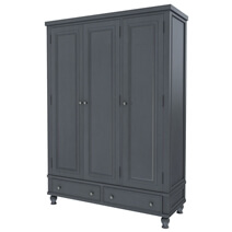 Marysville Mahogany Wood 2 Drawer Large Clothing Armoire Wardrobe