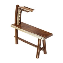 Naples Live Edge Counter Height Pub Table Set with 4 Bar Chairs