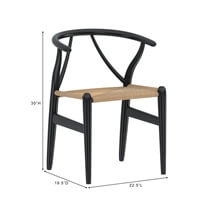 Eldora Handcrafted Solid Wood Modern Danish cord Selena Dining Chair