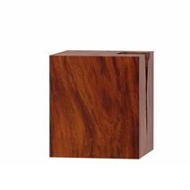 Lamoni Solid Suar Wood Block Nightstand
