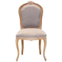 Kimballton Shabby Chic Mahogany Wood Upholstered Accent Dining Chair