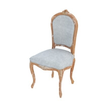 Shabby Chic Teak Wood Round Dining Table Chair Set