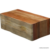 Montrose Handcrafted Suar Wood Large Block Coffee Table