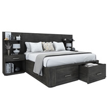 Estherville Mahogany Wood 4 Piece Bedroom Set