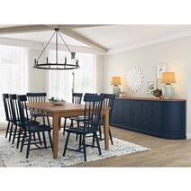 Peshtigo Farmhouse Teak & Mahogany Wood 10-Piece Dining Room Set
