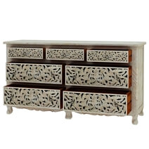 Pennsylvania Solid Wood Moroccan Style Hand Carved 4 Piece Bedroom Set