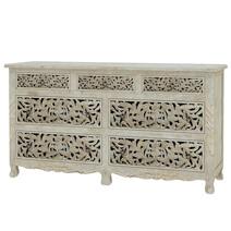 Pennsylvania Solid Wood Queen Anne 7 Drawer White Bedroom Dresser