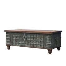 Marotta Rustic Solid Wood Antique Traditional Storage Trunk Chest