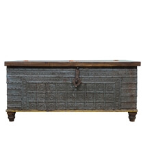 Holton Rustic Solid Wood 51 Traditional Large Storage Trunk Chest