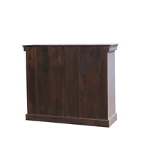 Falmouth Blue Two Tone Mango Wood Hand Carved Storage Cabinet