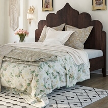 Orillia Solid Wood Handcrafted Traditional Moroccan Platform Bed