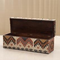 Napier Bohemian Upholstered Bedside Storage Trunk Chest