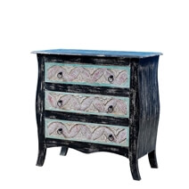 Chrysteen Rustic Reclaimed Wood Dresser With 3 Drawers