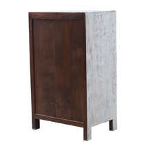 Borjan Reclaimed Wood Two Tone Dresser with Five Drawers