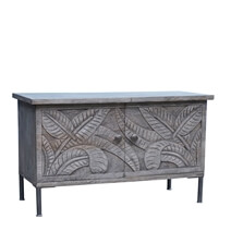 Tarquin Reclaimed Wood Moroccan Standing Hall Console Cabinet
