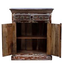 Westrick Distressed Reclaimed Wood 2 Drawer Rustic Sideboard Cabinet