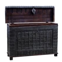 Crandon Rustic Reclaimed Solid Wood Tall Nautical Antique Trunk