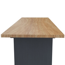 Contemporary Solid Teak Wood Two-Tone Office Desk with Drawer