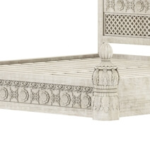 Nuala Hand Carved Mahogany Wood Platform Bed
