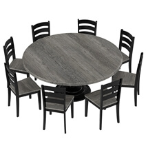 Moosonee Two Tone Solid Wood 10 Piece Dining Room Set