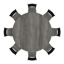 Moosonee Black Two Tone Solid Wood Farmhouse Dining Table Chair Set