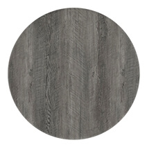 Moosonee Black Two Tone Solid Wood Farmhouse Round Dining Table