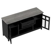 Moosonee Black Two Tone Solid Wood Farmhouse Large Buffet Cabinet
