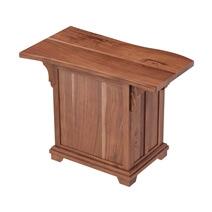 Maldon Large Live Edge Top Solid Acacia Wood Home Office Executive Desk Set
