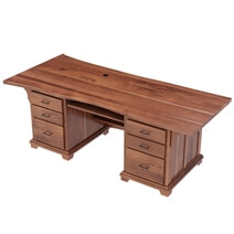 Large Live Edge Solid Wood 88 Inch Home Office Executive Desk