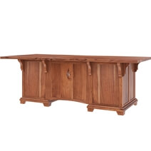 Maldon Large Live Edge Top Solid Acacia Wood Home Office Executive Desk