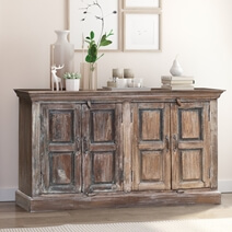 Thompson Rustic Reclaimed Wood Farmhouse Large Sideboard Cabinet
