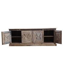 Miramichi Rustic Reclaimed Wood 4-Door Sideboard Cabinet