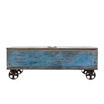 Cranbrook Industrial Rustic Reclaimed Wood Storage Trunk Coffee Table
