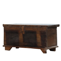 Thorold Primitive Rustic Reclaimed Wood Storage Trunk Chest