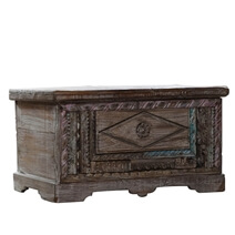 Granby Antique Reclaimed Wood Small Storage Trunk Chest