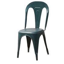 Sibiu Industrial Style Blue Metal Tolix Accent Chair
