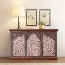 Handcrafted 2-Tone Mango Wood 3-door Sideboard Cabinet