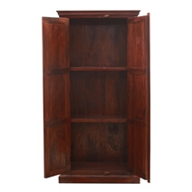 Marrakesh Solid Wood Armoire with Ceramic Tile Inlay