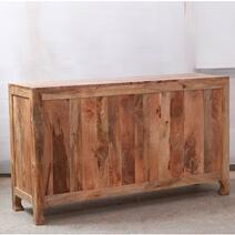 Meknes Hand-Carved Mango Wood Farmhouse Sideboard Cabinet