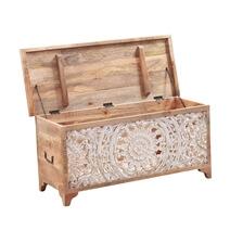"Essaouira Rustic Solid Wood Accent 46"" Storage Trunk"
