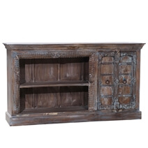 Alexandria Antique Handcrafted Reclaimed Wood Rustic TV Media Console