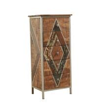 Belfort Industrial Style Solid Wood 5 Drawer Tall Dresser